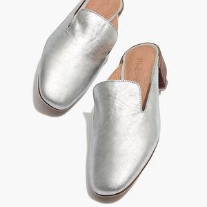 MADEWELL The Willa Loafer Mule in Metallic 9H NWOB
